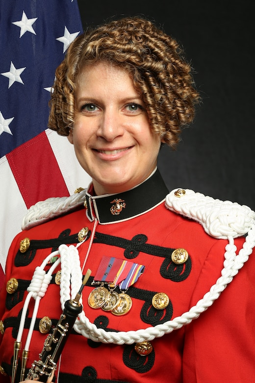 """Gunnery Sergeant Tessa Gross, """"The President's Own"""" United States Marine Band Oboist and English Horn Player, Official Portrait"""
