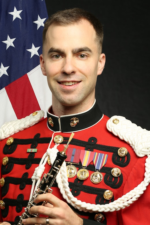 """Staff Sergeant Trevor Mowry, """"The President's Own"""" United States Marine Band Co-Principal Oboist, Official Portrait"""