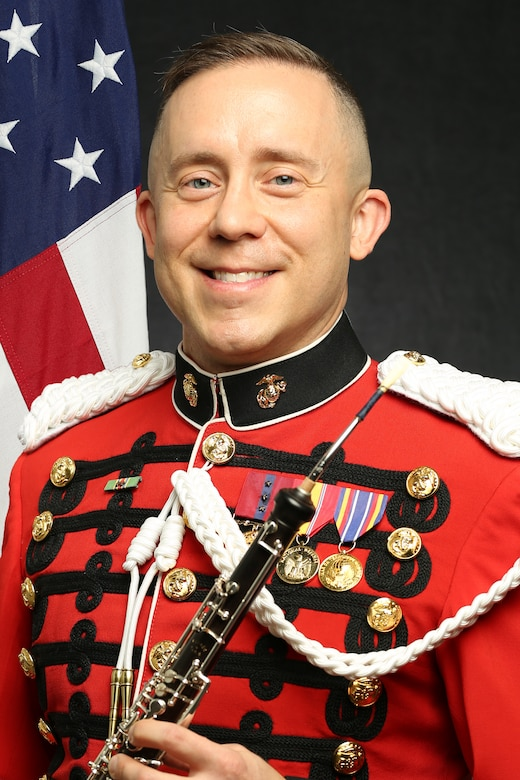 """Gunnery Sergeant Joseph DeLuccio, """"The President's Own"""" United States Marine Band Oboist and English Horn Player, Official Portrait"""