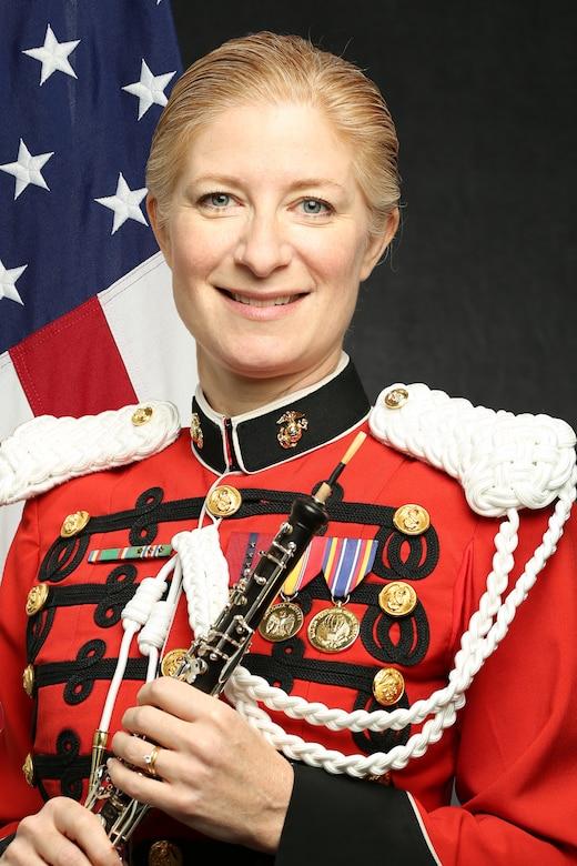 "Master Gunnery Sergeant Leslye Barrett, ""The President's Own"" United States Marine Band Co-Principal Oboist, Official Portrait"