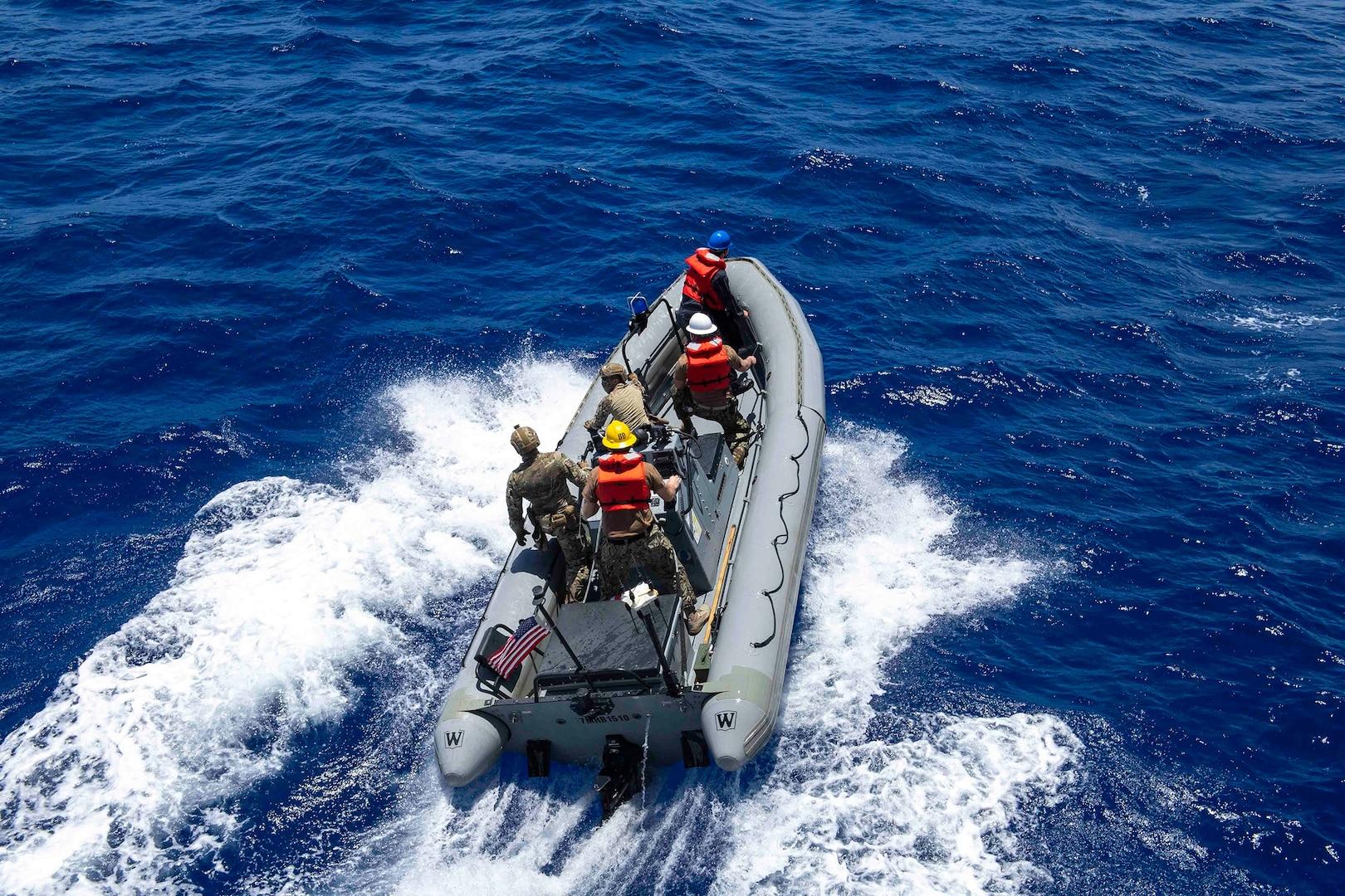 Coast Guard, Navy continue high seas Oceania Maritime Security Initiative Patrol