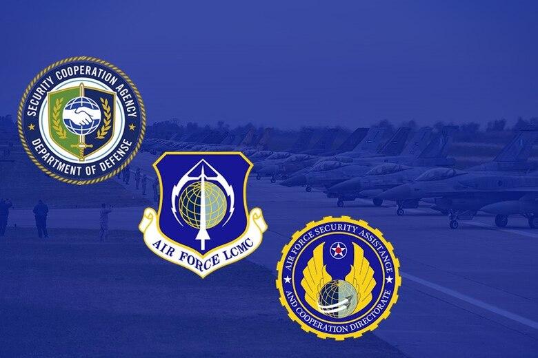 AFSAC AFLCMC logos (U.S. Air Force graphic created by Jonathan Tharp/AFSAC)