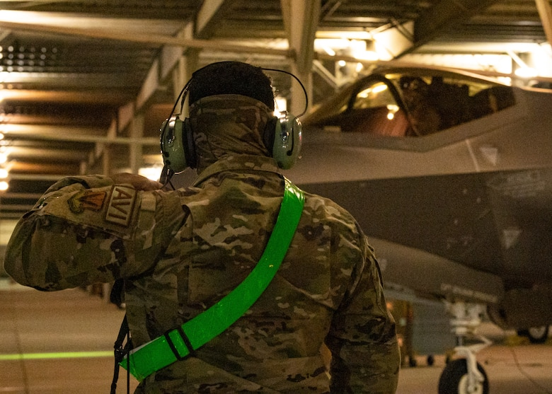A photo of an F-35 at Hill Air Force Base, Utah.