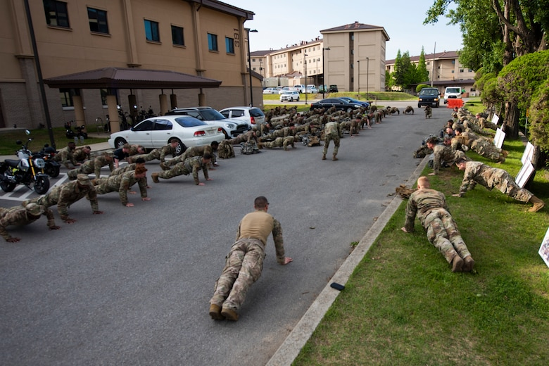 51st Security Forces Squadron conducted a ruck march as part of the Police Week events.