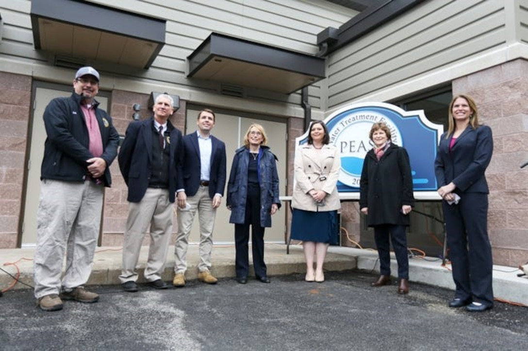 Department of the Air Force officials joined Portsmouth and New Hampshire elected representatives at a ceremony May 4 at the former Pease Air Force Base