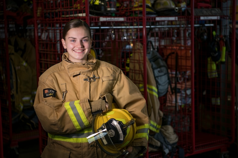 Airman in firefighter suit