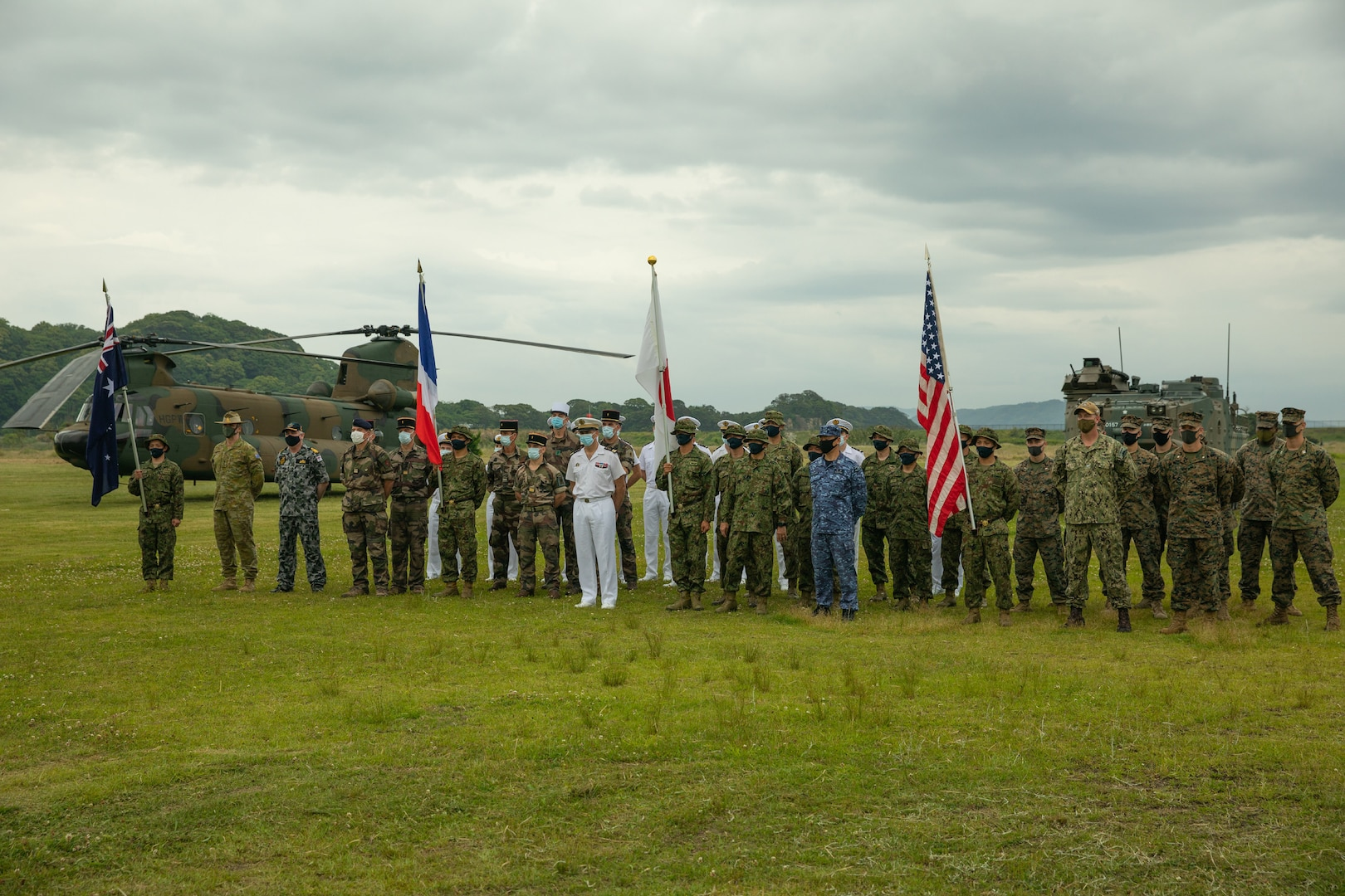 Japanese, French, Australian, and U.S. troops kick off Exercise Jeanne D'Arc 21