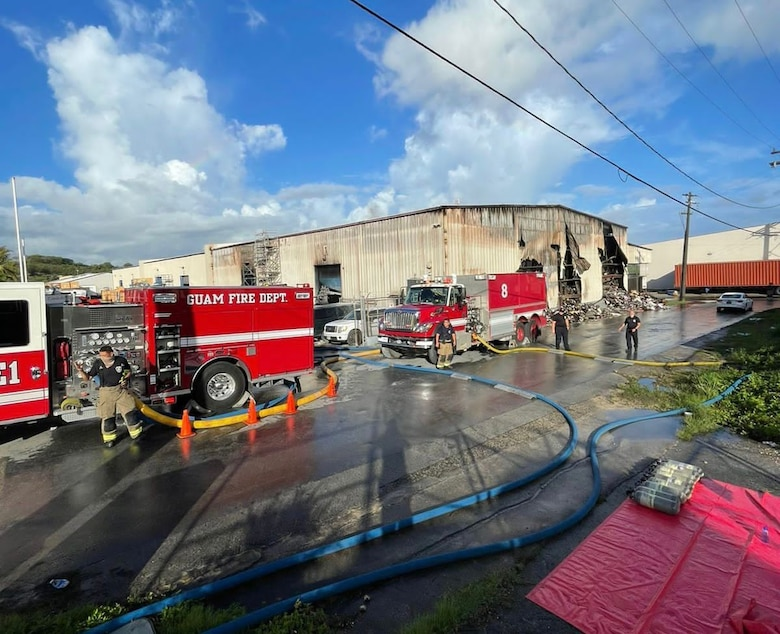 Andersen AFB fights fires with local Fire Department