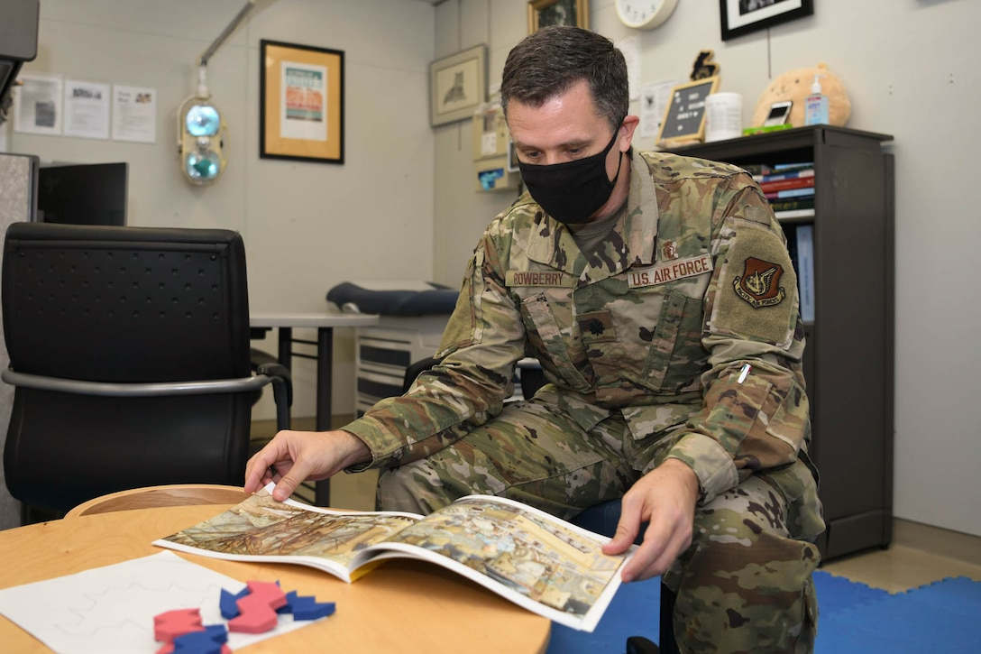 Members of the PACAF Pediatric Psychological Developmental Team demonstrate a typical day in the office.