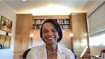 Condoleezza Rice speaks at a virtual MasterMinds guest speaker event hosted by the Defense Intelligence Agency.