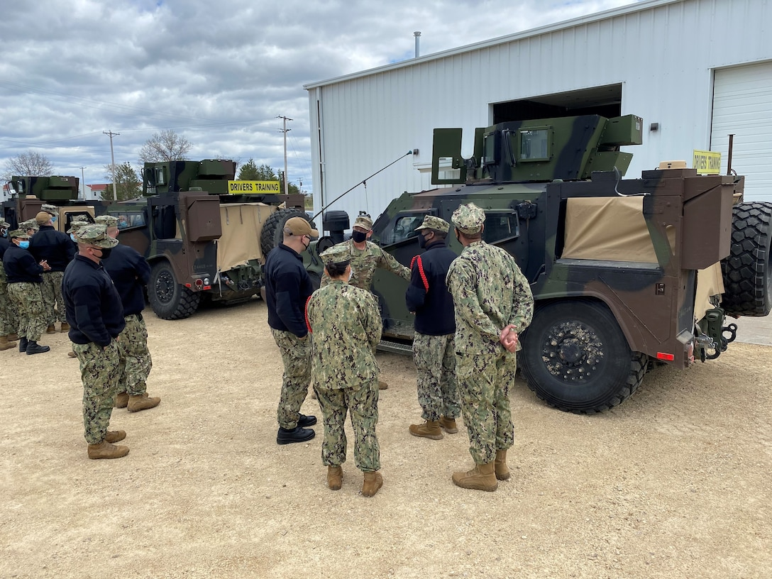 Sailors Experience JLTV Capability at Fort McCoy