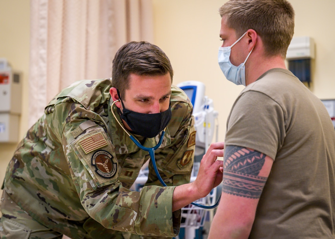412th Medical Group paused and celebrated the Air Force's Nurse and Tech Week, which coincides with National Nurse Week, to honor and thank the medical technicians and nurses of the 412th Test Wing community. (Air Force photo by Giancarlo Casem)