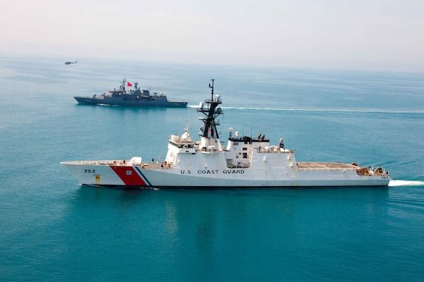 USCGC Hamilton (WMSL 753) operates with the Turkish navy  in the Black Sea.