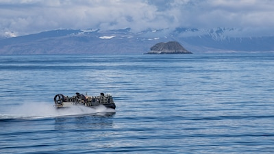 ACU-5  maneuvers through the Gulf of Alaska during Northern Edge 2021.