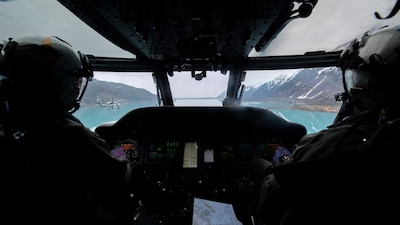 HSM-75 support Northern Edge 2021 over the Gulf of Alaska.