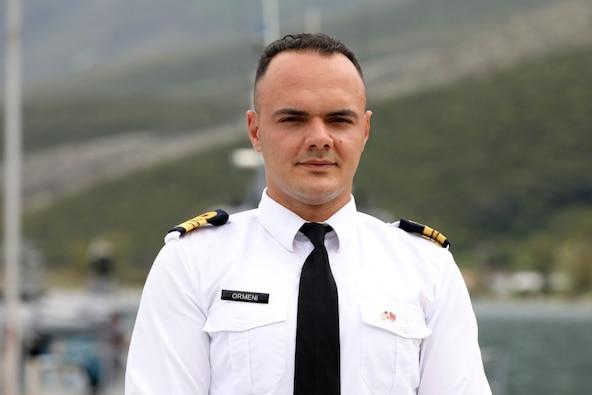 Albanian Lt. Eldi Ormeni helps keep the ship afloat at DEFENDER-Europe 21