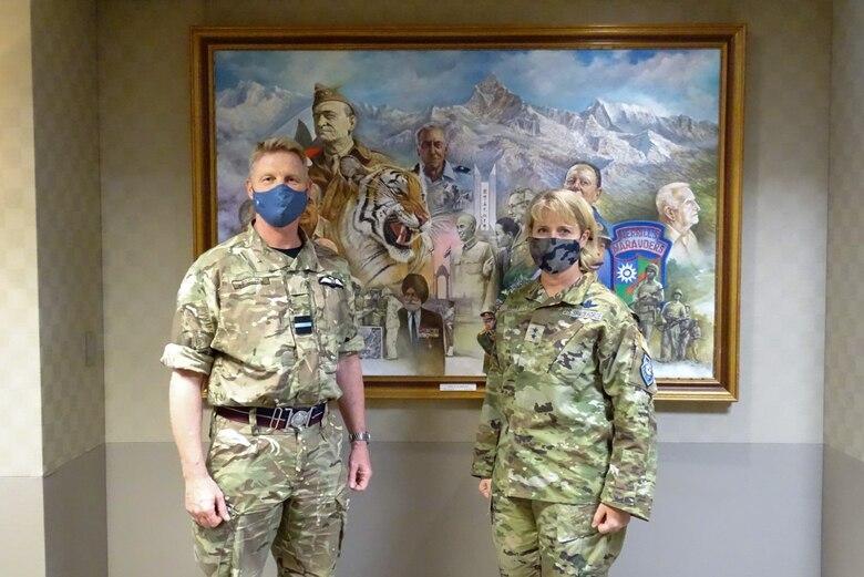 Photo of U.K. Air and Space Attaché visit to CFSCC