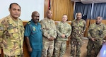 Capt. Christopher Meza, a Wisconsin Army National Guard officer, with senior leaders from the Papua New Guinea Defense Force. Meza spent nearly six months in Papua New Guinea where he represented the Wisconsin National Guard as part of its new State Partnership Program partnership with Papua New Guinea.