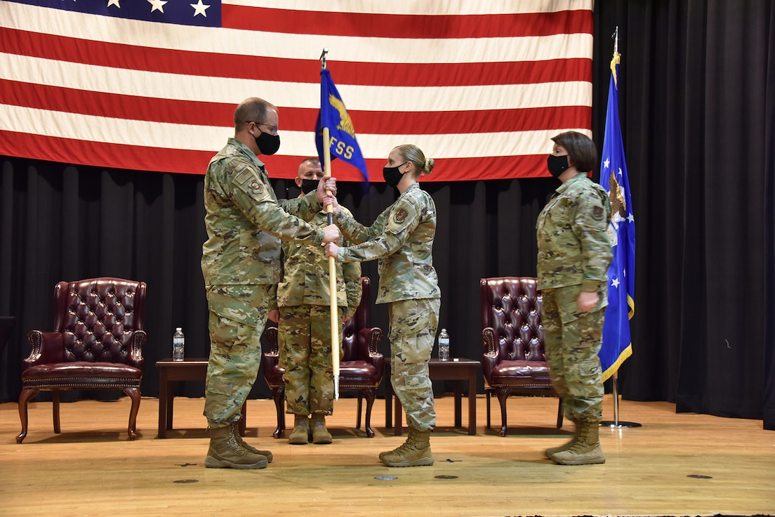 Baggett Assumes Command of 184th Force Support Squadron
