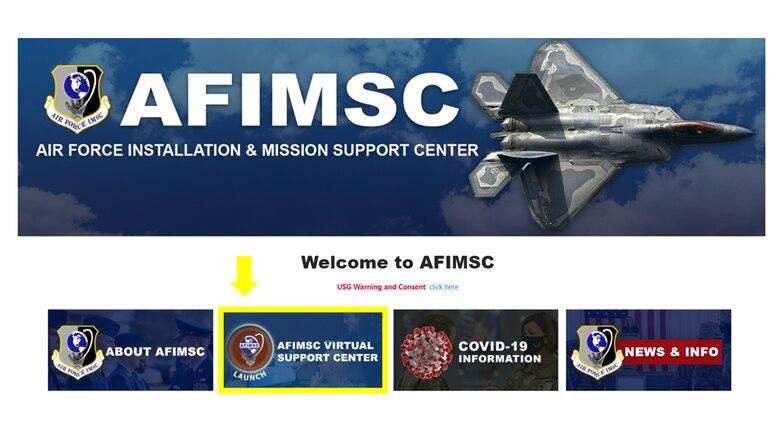 AFIMSC SharePoint site screen shot