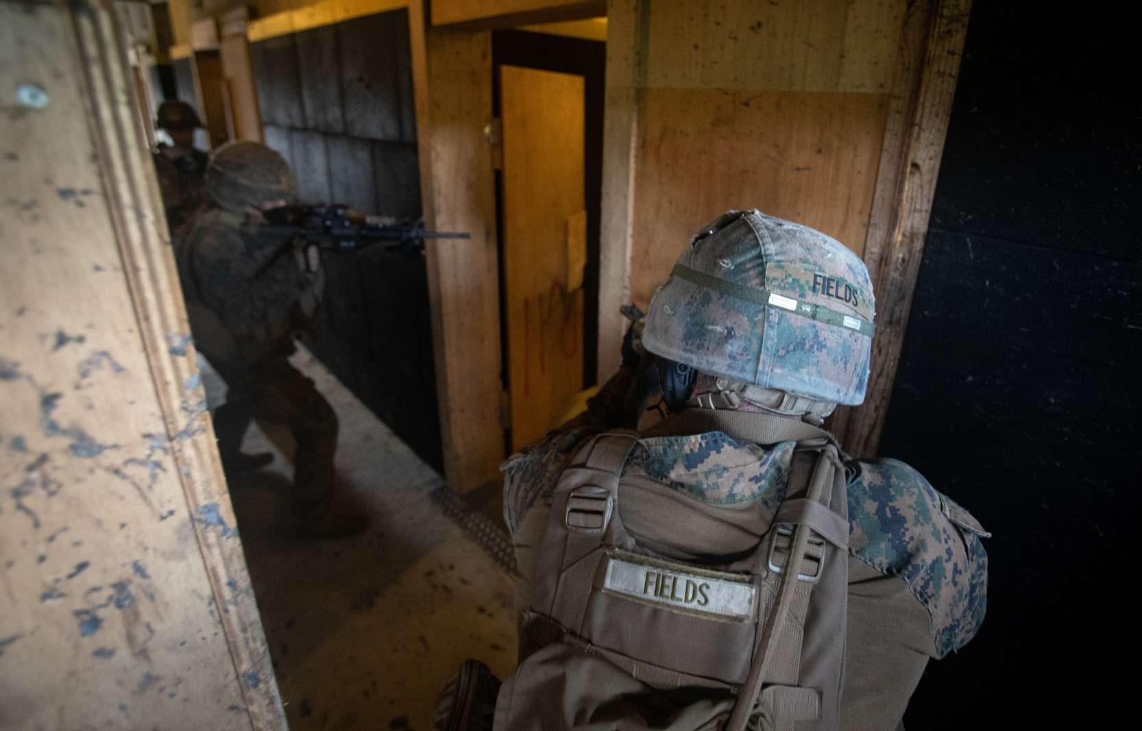 Cpl Fields conducts interior tactics training in Okinawa