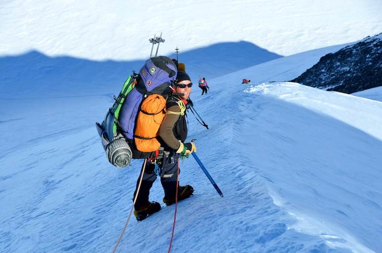 Photo of Lt. Col. Rob Marshall, an individual mobilization augmentee assigned to U.S. Space Command who is currently on full-time orders with the Air Reserve Personnel Center at Buckley Air Force Base, Colorado, who will be leading the 20,310-foot climb up Denali in Alaska beginning May 29.