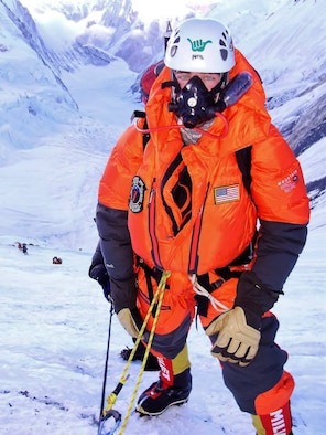 Photo of Maj. Marshall Klitzke, a traditional Reservist assigned to the 70th Flight Training Squadron, U.S. Air Force Academy, who will be among the five Air Force-affiliated climbers attempting to scale Denali beginning May 29.