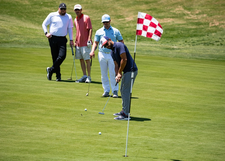 Members of the 56th Security Forces Squadron participate in the annual Police Week Golf Tournament, May 10, 2021, at Luke Air Force Base, Arizona.