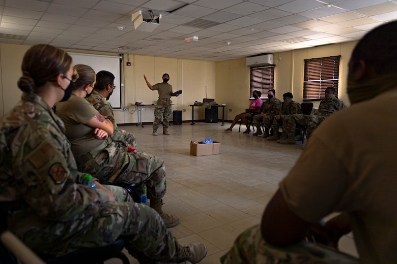 A photo of Airmen attending training