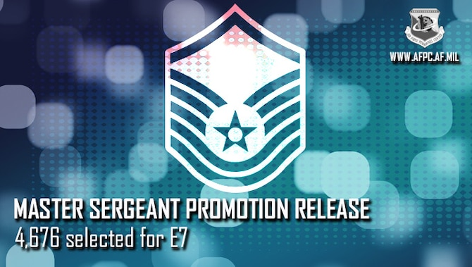 Blue graphic with Master Sergeant stripes, announcing the release