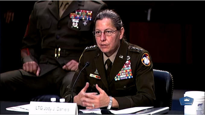 Members of the Senate Subcommittee on Defense listen to testimony from Defense Department leaders regarding the National Guard and the services' Reserve forces, May 18, 2021. Witnesses include: Army Gen. Daniel R. Hokanson, National Guard Bureau chief; Lt. Gen. Jody J. Daniels, Army Reserve chief; Vice Adm. John B. Mustin, Navy Reserve chief; Lt. Gen. David G. Bellon, Marine Corps Reserve commander; and Lt. Gen. Richard W. Scobee, Air Force Reserve chief.