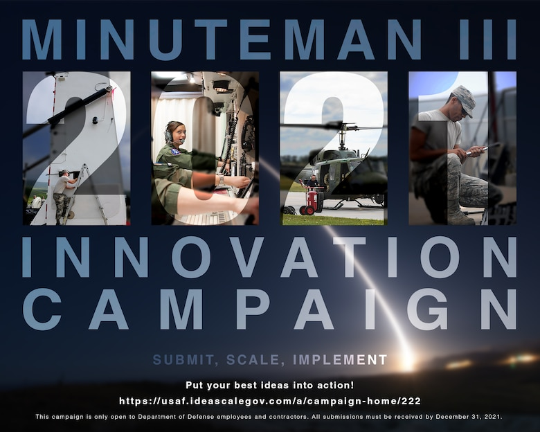 The campaign is open through Dec. 31, 2021 to DoD employees and contractors, who can submit their ideas and view other submissions at https://usaf.ideascalegov.com/a/campaign-home/222. (Artwork by Capt. Austin Troya)