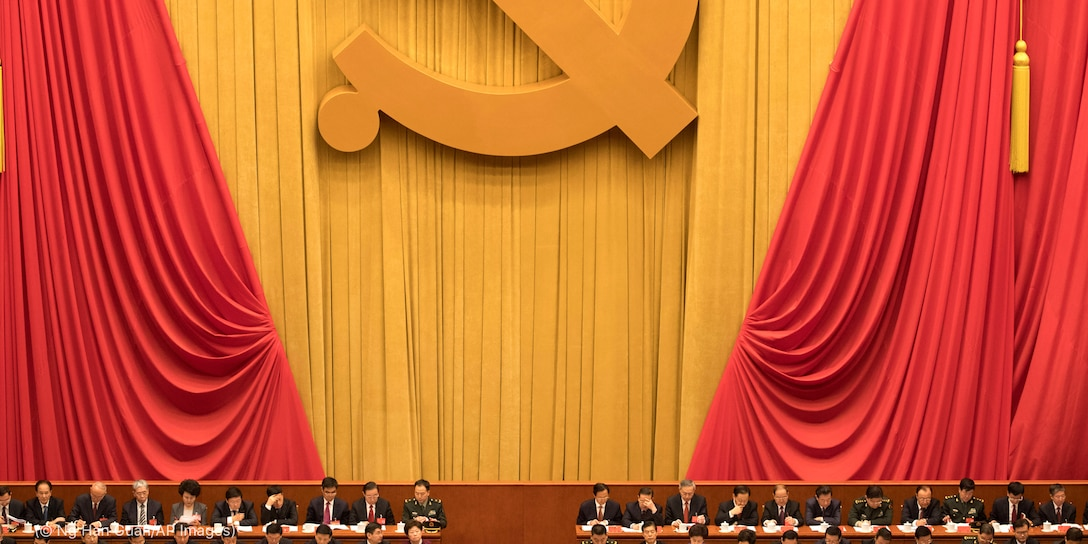 Chinese communists party cadres attend the opening ceremony of the 19th Party Congres
