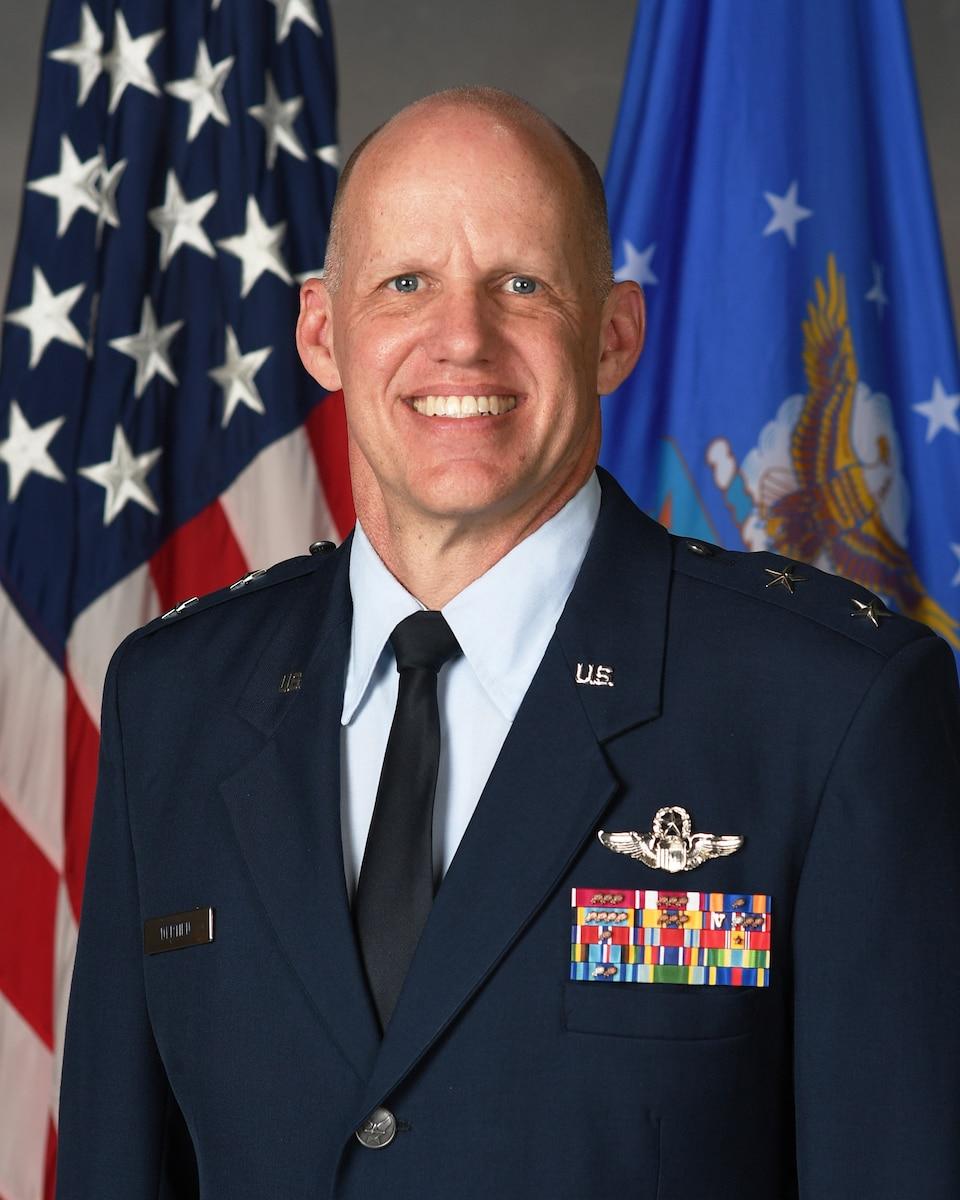 This is the official portrait of Maj. Gen. Evan C. Dertien.