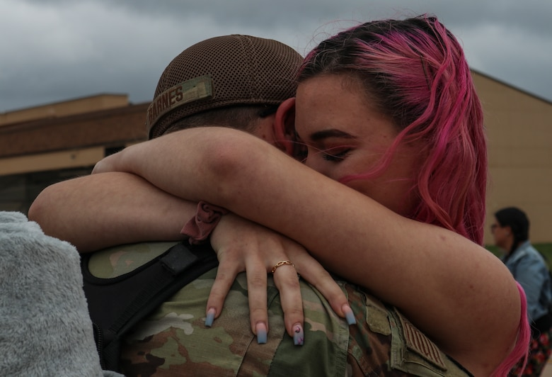 Families and Airmen welcome home 317th Airlift Wing members