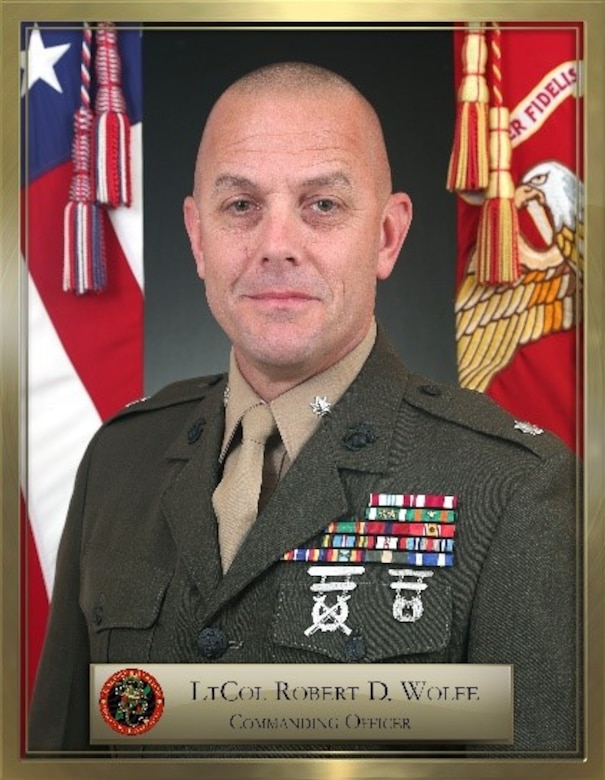 Lt. Col. Robert D. Wolfe official biography photo