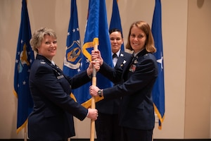 Col. Kelli Smiley relinquished command of Headquarters Air Reserve Personnel Center at Buckley Air Force Base, Colorado, to Brig. Gen. Jennie Johnson May 21, 2021.