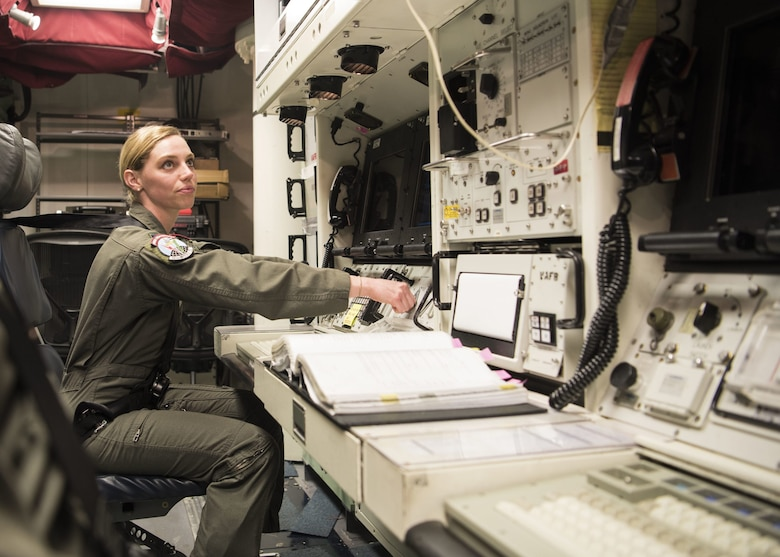 1st Lt. Claire Waldo, 12th Missile Squadron missile combat crew commander, conducts a dry-run for a test launch in the Launch Control Center Feb. 3, 2020, at Vandenberg Air Force Base, Calif. The 576th FLTS is America's only dedicated intercontinental ballistic missile test squadron professionally executing tests that accurately measure the current and future capability of the ICBM force. Modernization of the U.S. Air Force nuclear force is a key priority moving forward.