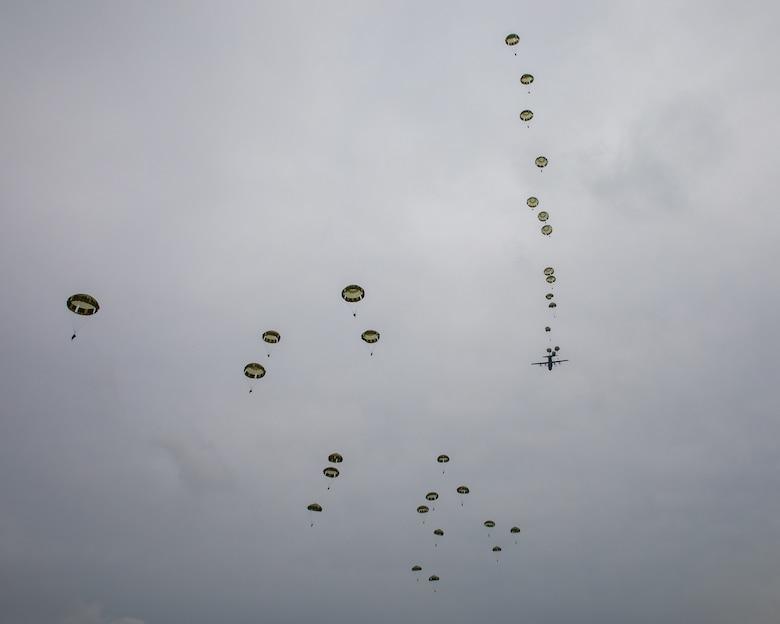 Japan Ground Self-Defense soldiers parachute