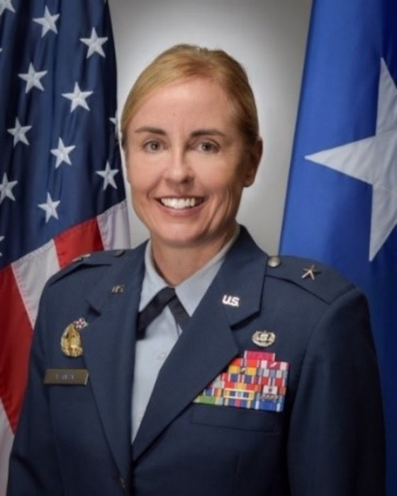 This is the official portrait of Brig. Gen. Rebecca R. Vernon.