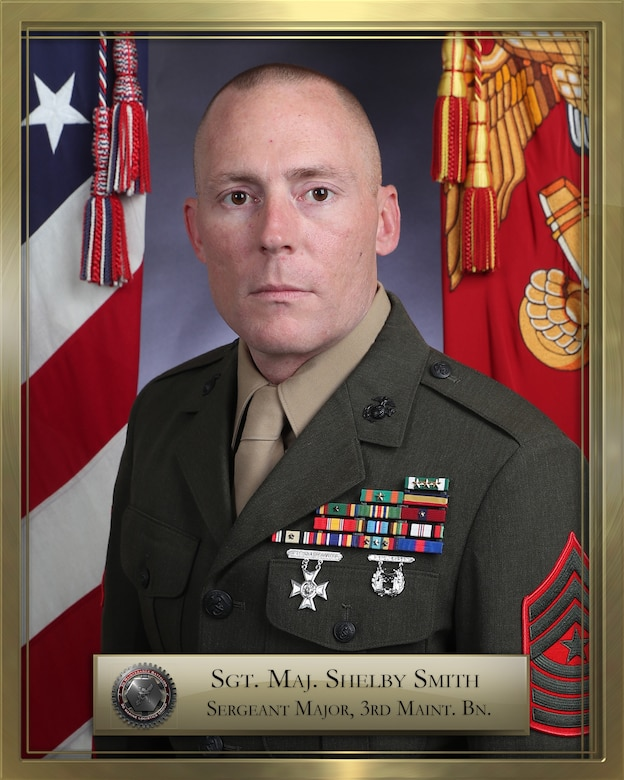 Sgt. Maj. Shelby Smith official biography photo