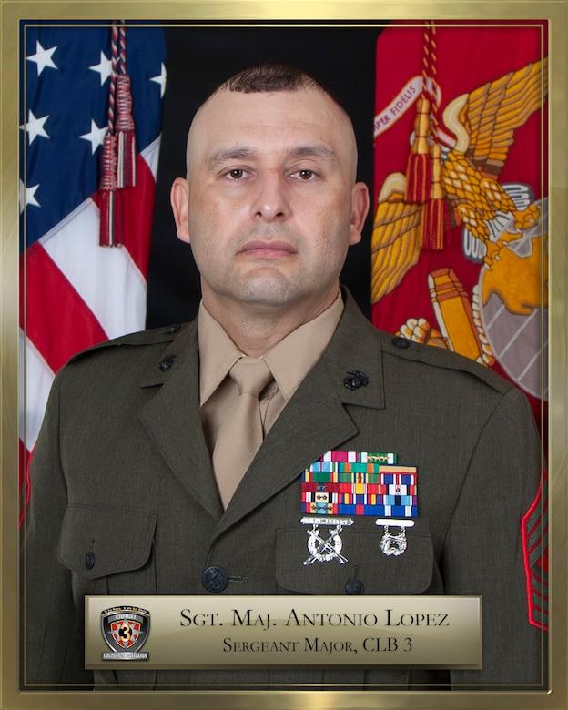 Sgt. Maj. Antonio Lopez official biography photo