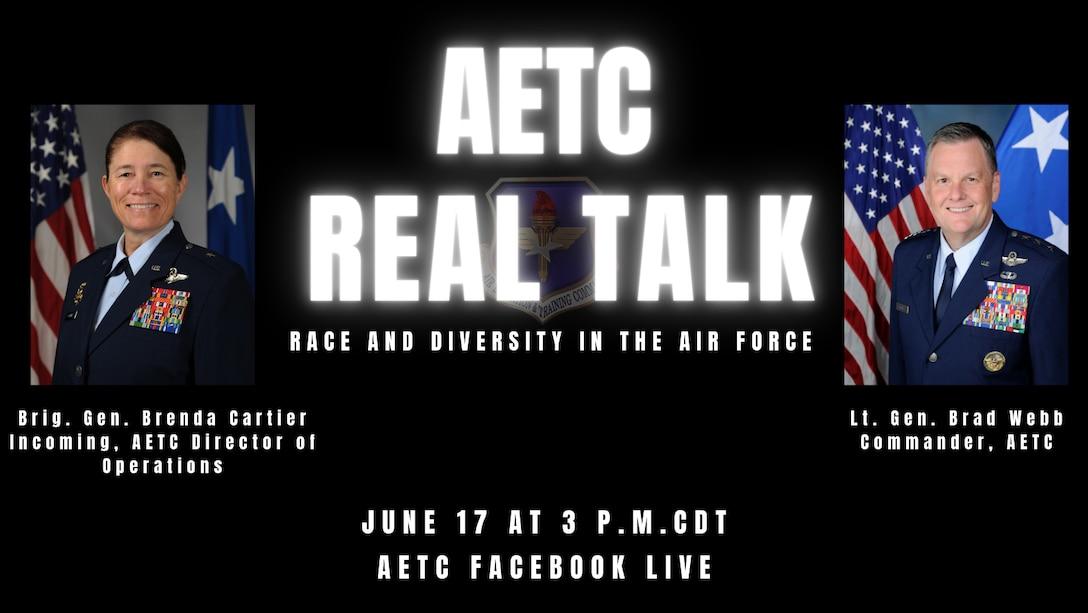 Graphic publicizing AETC Real Talk