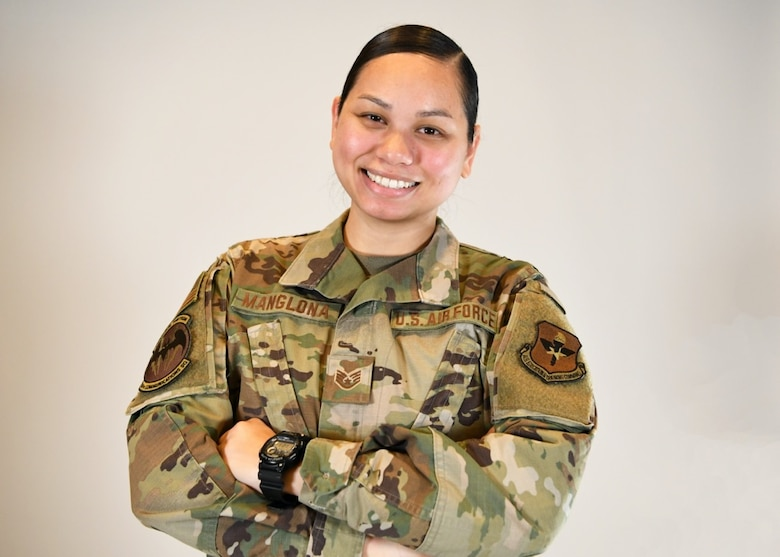 Staff Sgt. Conralyn Manglona, 56th Communications Squadron knowledge management technician, poses for a photo May 24, 2021, at Luke Air Force Base, Arizona. Manglona represents the diversity across the United States Air Force. Asian American and Pacific Islander Heritage Month is recognized in the month of May to celebrate the achievements of Asian American and Pacific Islander men and women. (U.S. Air Force photo by Senior Airman Caitlin Diaz-Gorsi)