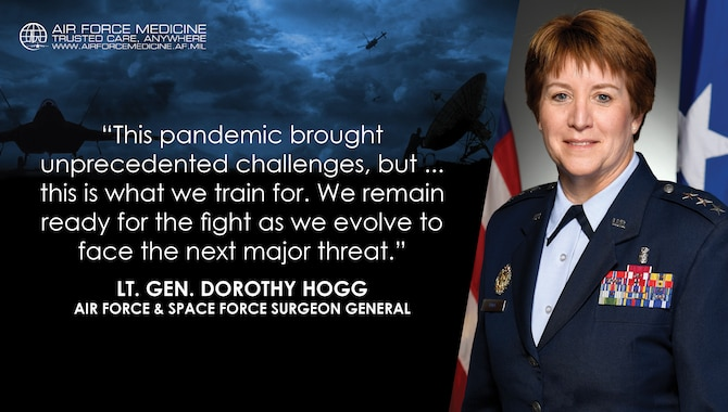 Graphic with text and an image of an Airman.