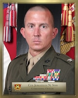 Command Photo of Col. Jonathan N. Sims. 12th Marine Regiment Commanding Officer