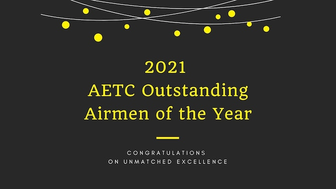Graphic image of 2021 AETC Outstanding Airmen of the Year.