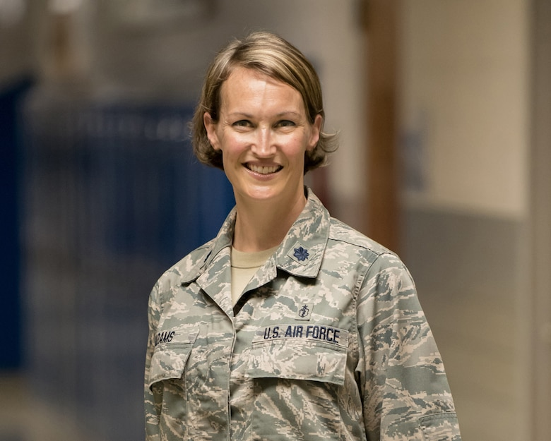 Lt. Col. Patricia Adams, an optometrist in the Kentucky Air National Guard's 123rd Medical Group, has earned the 2019 General John Hunt Morgan Award from the National Guard Association of Kentucky. The award recognizes Adams' outstanding service as a clinical site leader during an Innovative Readiness Training exercise in Eastern Kentucky in 2018, during which military personnel provided no-cost medical care to thousands of underserved residents, performing more than 11,000 procedures and delivering 1,400 prescription eyeglasses with a market value of more than $1 million. (U.S. Air National Guard photo by Lt. Col. Dale Greer)