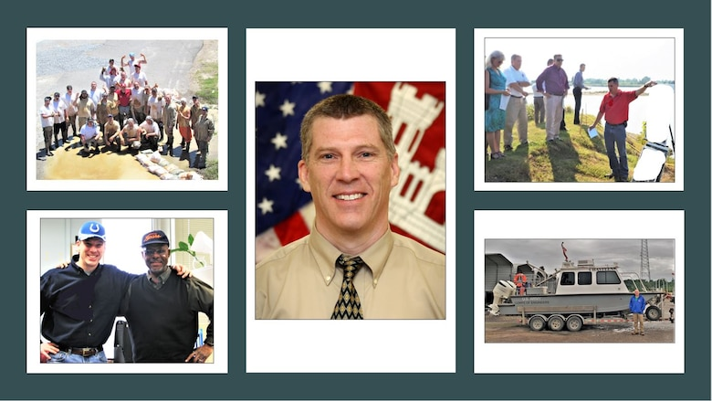 IN THE PHOTOS, a collage of recently passed Darian Chasteen during his many years with the Memphis District U.S. Army Corps of Engineers.