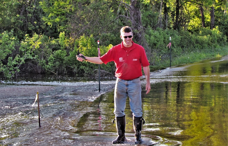 IN THE PHOTO, Darian Chasteen out fishing. Chasteen recently passed away, losing a hard-fought battle with cancer. While he is physically no longer with the district, his legacy will live on through stories and memories forever.
